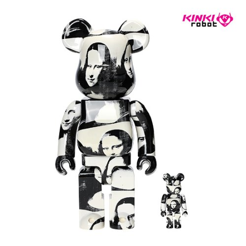 400%+100%BEARBRICK ANDYWARHOL DOUBLE MONA LISA