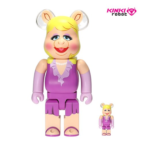 400%+100%BEARBRICK MISS PIGGY