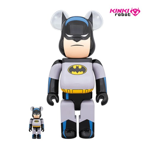 400&100%BEARBRICK BATMAN ANIMATED SET