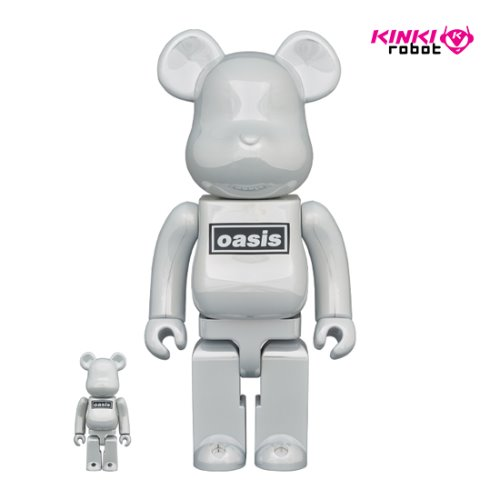 400%+100%, 1000%BEARBRICK OASIS WHITE CHROME (프리오더)
