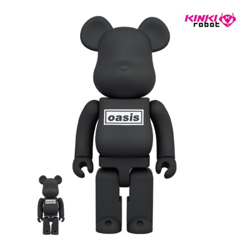 400%+100%, 1000%BEARBRICK OASIS BLACK RUBBER COATING (프리오더)