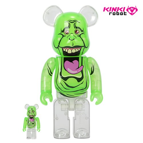 400%+100%BEARBRICK SLIMER GREEN GHOST