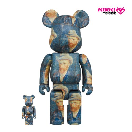 400%+100%, 1000%BEARBRICK VAN GOGH MUSEUM SELF PORTRAIT (프리오더)